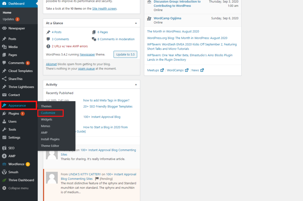 step to change site title in wordpress